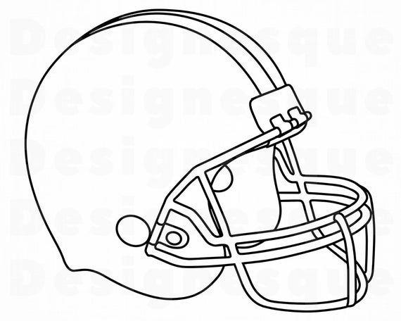 Football Helmet Outline 2 Svg Football Helmet Clipart Etsy In 2021 Football Coloring Pages Football Clip Art Football Helmets
