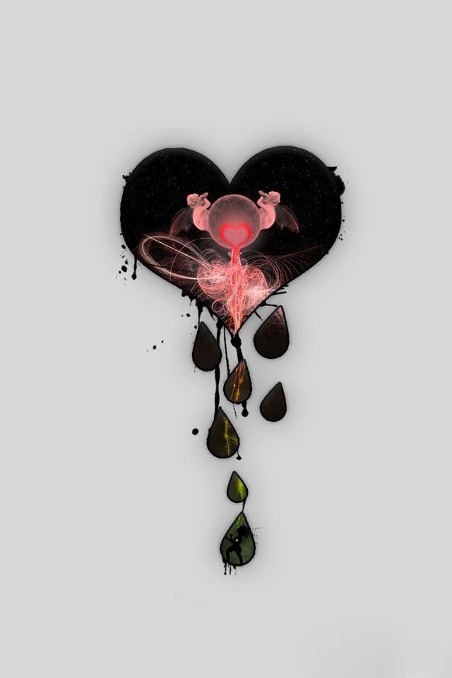 Pin By Dawn Mccoy On Art Heart Wallpaper Black Heart Wallpaper Broken Heart Awesome black broken heart wallpaper