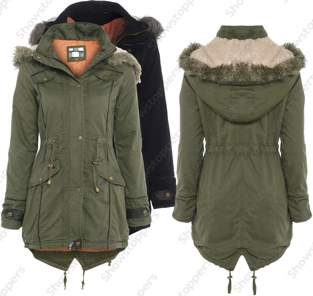 khaki parka coat womens - Google Search | Clothes | Pinterest ...