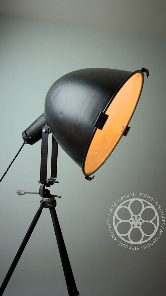 Vintage Scoop A Theater Stage Studio Light By