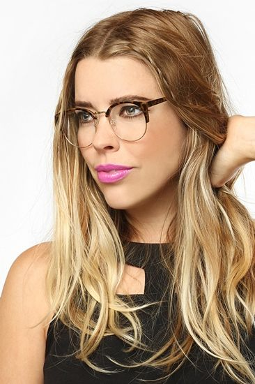 762a6c3553f Leslie  Thin Round Clear Glasses - Transparent Tortoise - 5622-2 ...