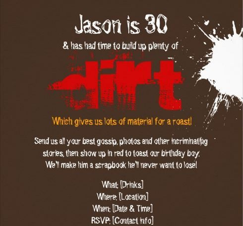1000 images about Dirty 30 party – Dirty 30 Birthday Invitations