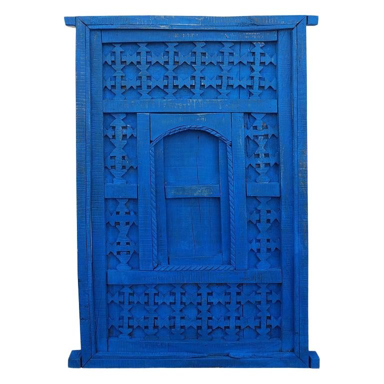 1970s Vintage Distressed Moroccan Blue Door In 2020 Vintage Doors House Exterior Blue Moroccan Doors