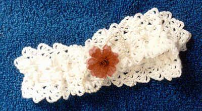 Crochet Pattern For A Wedding Bridal Garter