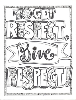 To Get Respect Give Respect Character Building Coloring