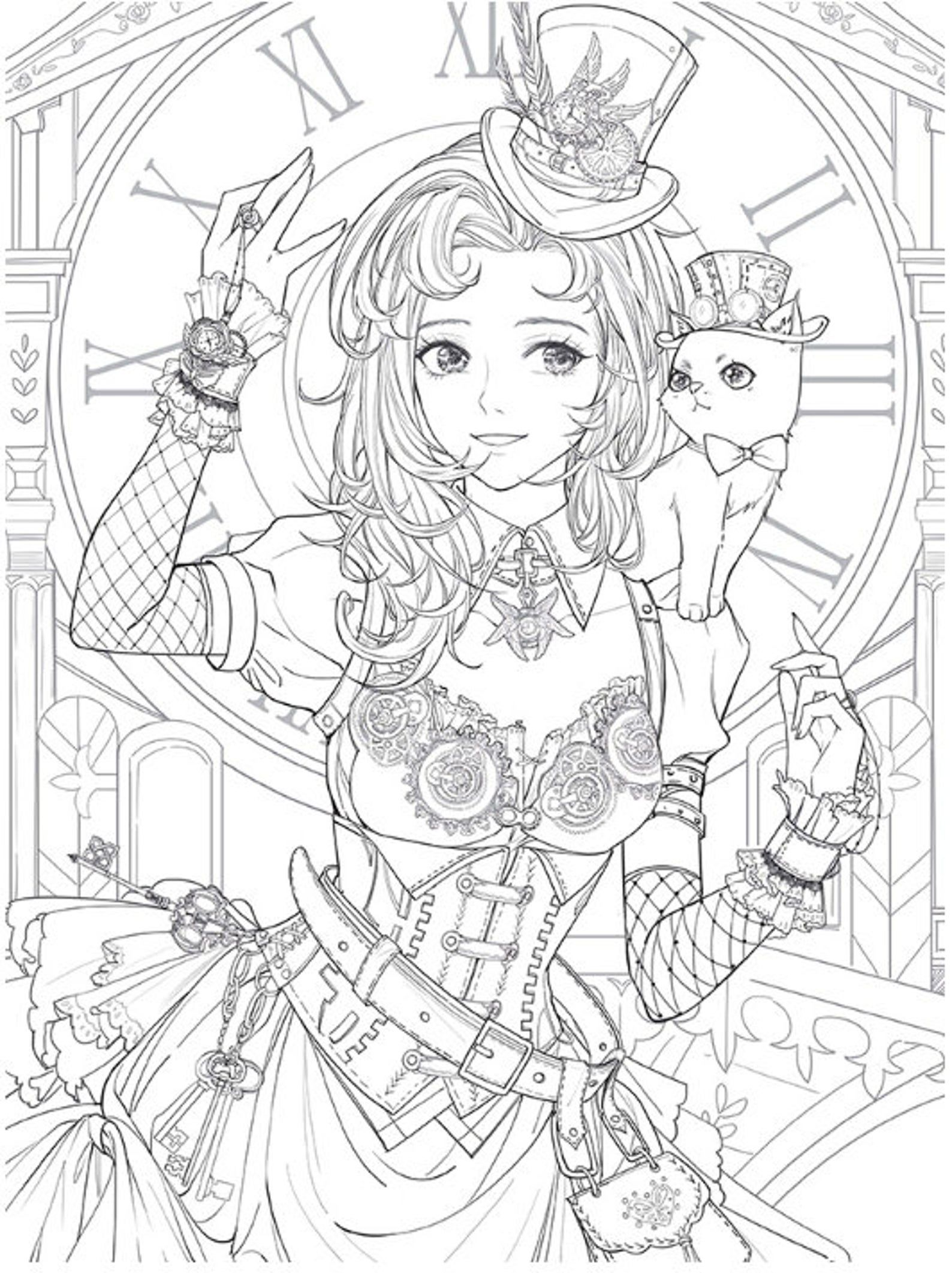 Masquerade Coloring Book Custome Play Chinese Coloring Book Etsy Steampunk Coloring Fairy Coloring Pages Coloring Books