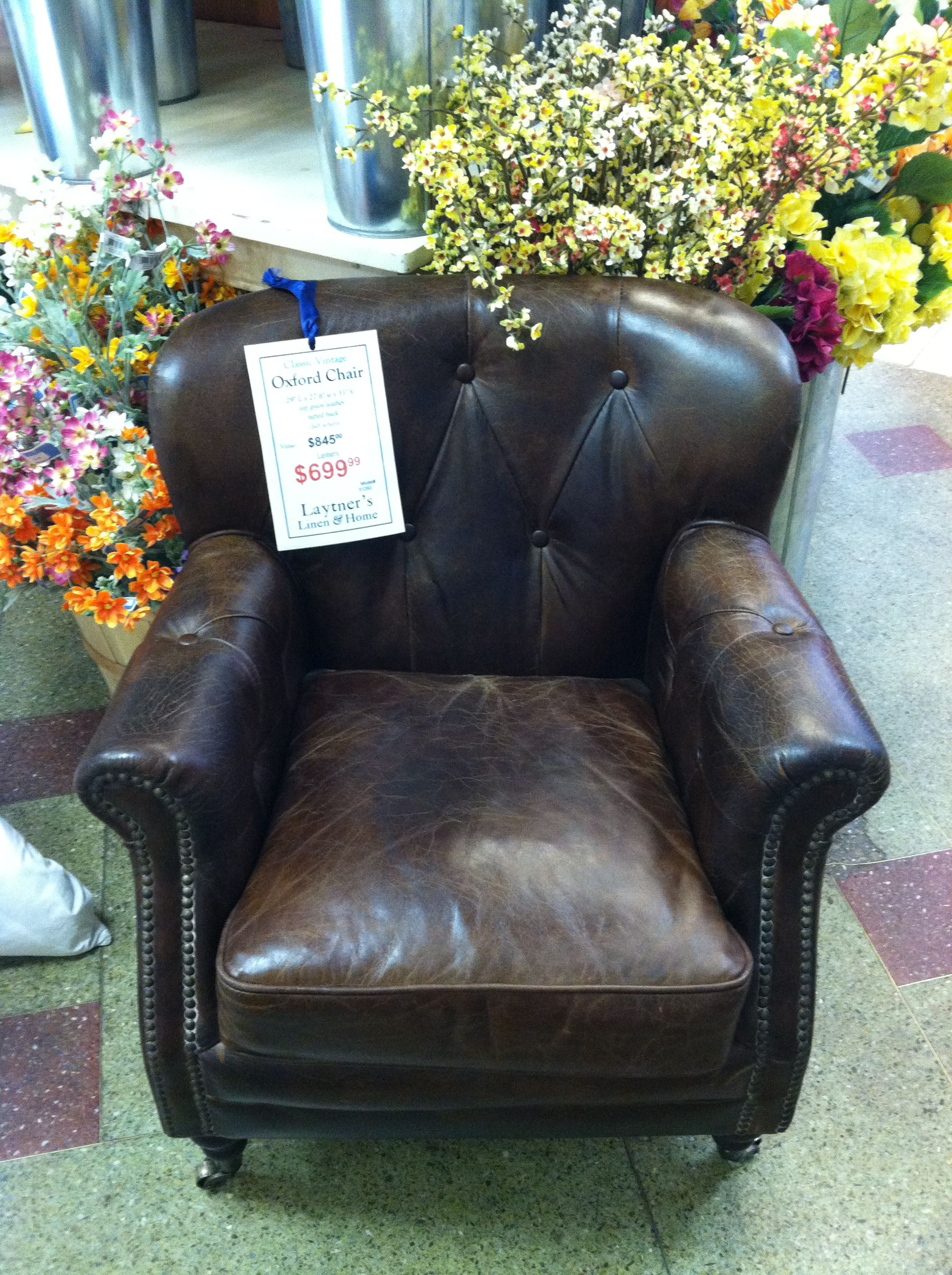 Fine leather chair. -M
