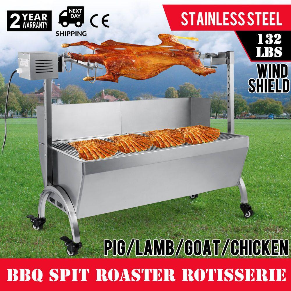 Details About 132LBS Hog Roast Machine BBQ Spit Roaster