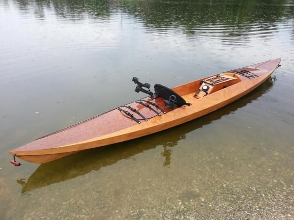 Sea island sport wooden sit on top kayak that you can for Sea fishing kayak