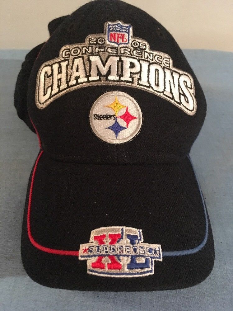 Reebok Pittsburgh Steelers 2005 Conference Champions Adjustable Hat ... 1e52fe5dc
