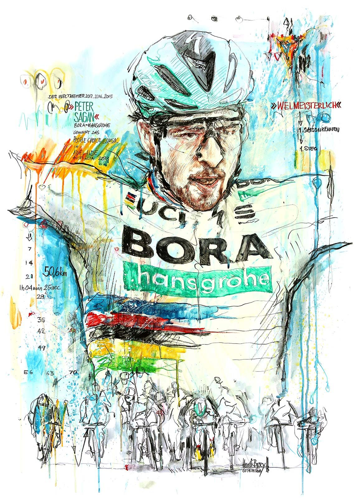 Peter Sagan, BoraHanserohe, gewinnt das People Choice