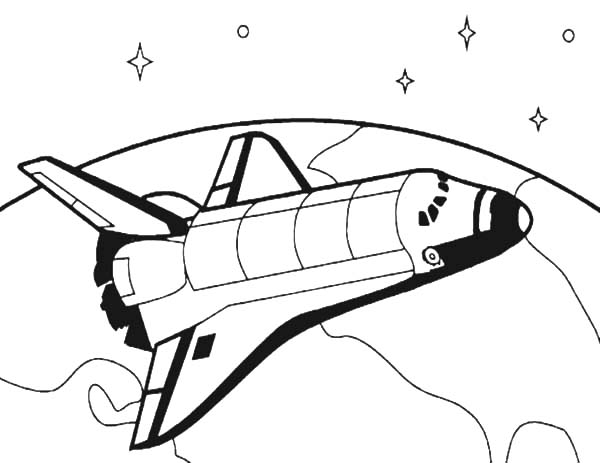 How To Draw Spacecraft For Space Travel Coloring Pages Best Place To Color In 2021 Space Shuttle Space Travel Coloring Pages