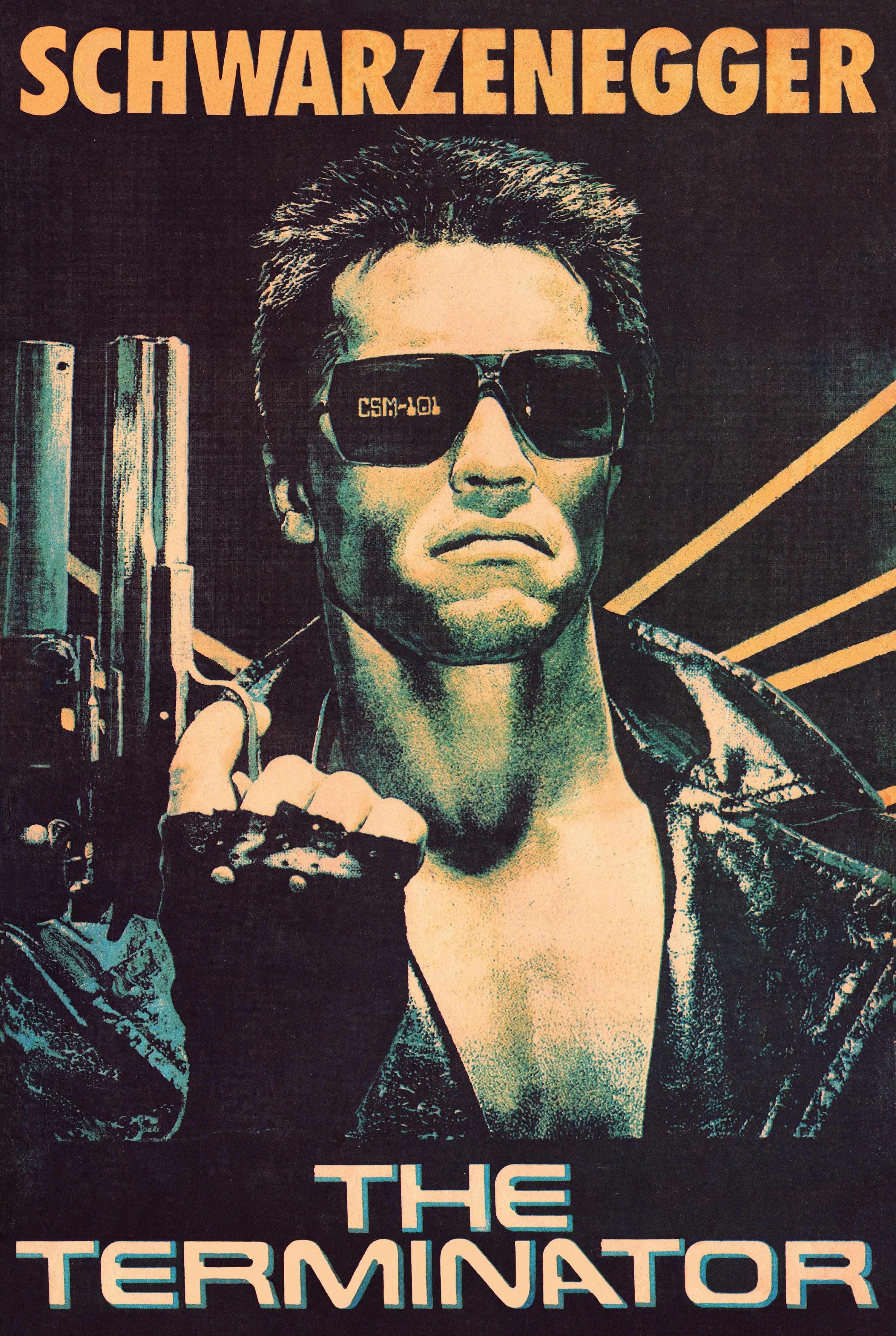 Poster the Terminator / Arnold Schwarzenegger ( 1984 ) USSR