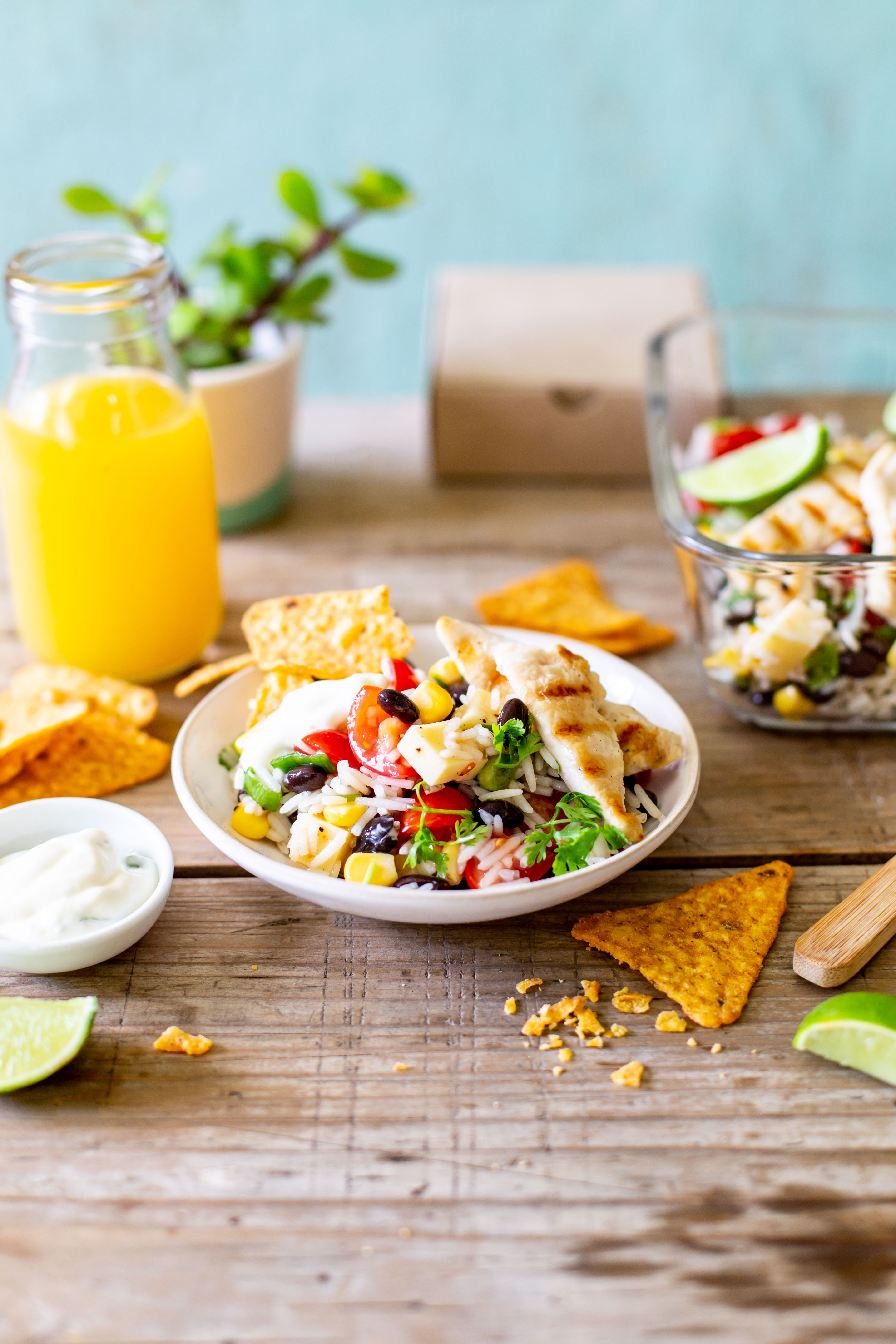 Nacho Salad Recipe Nacho Salad Rice Salad Nachos