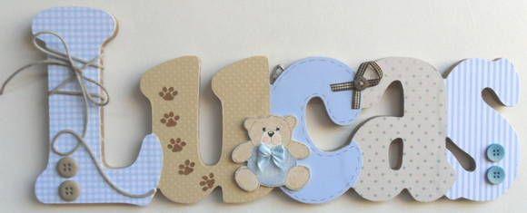 Nombres baby shower pinterest nombres letras - Letras decorativas infantiles ...