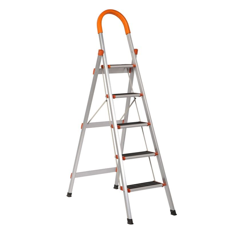 Buy Equal S Aluminium Multipurpose Ultra Wide Step Ladder At Best Price Foldingladder Foldableladder Folding Folda Aluminium Ladder Ladder Step Ladders