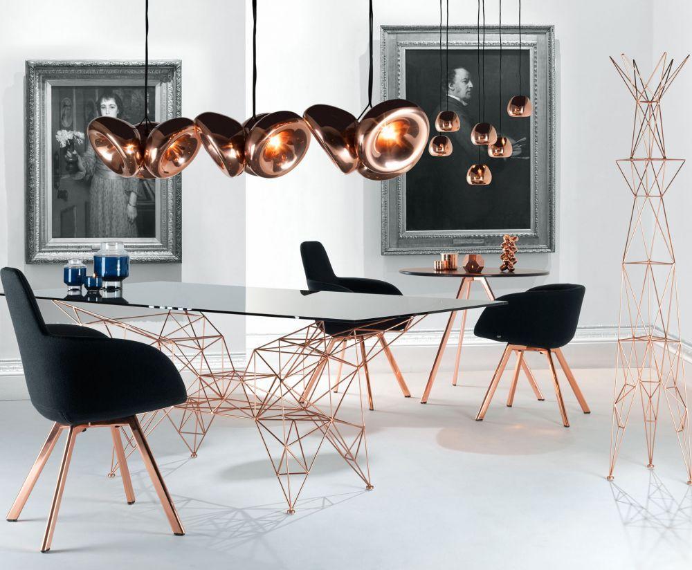 Tavolo Bizzotto ~ Tavolo da pranzo rettangolare in radica tavolo in legno collezione