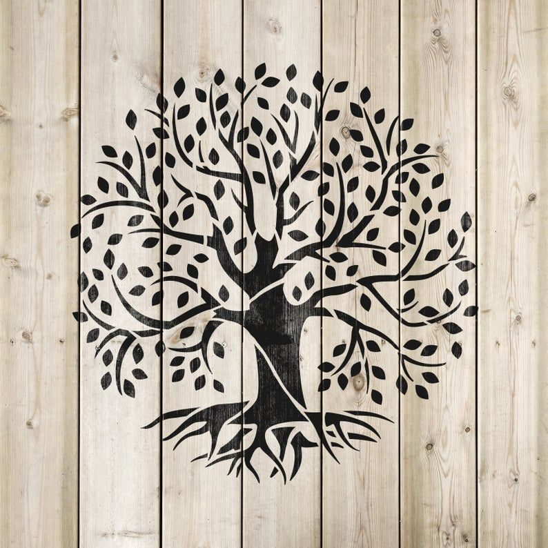 Tree Of Life Stencil Reusable Stencils For Painting Wall Etsy In 2020 Tree Stencil Stencil Painting Wall Painting