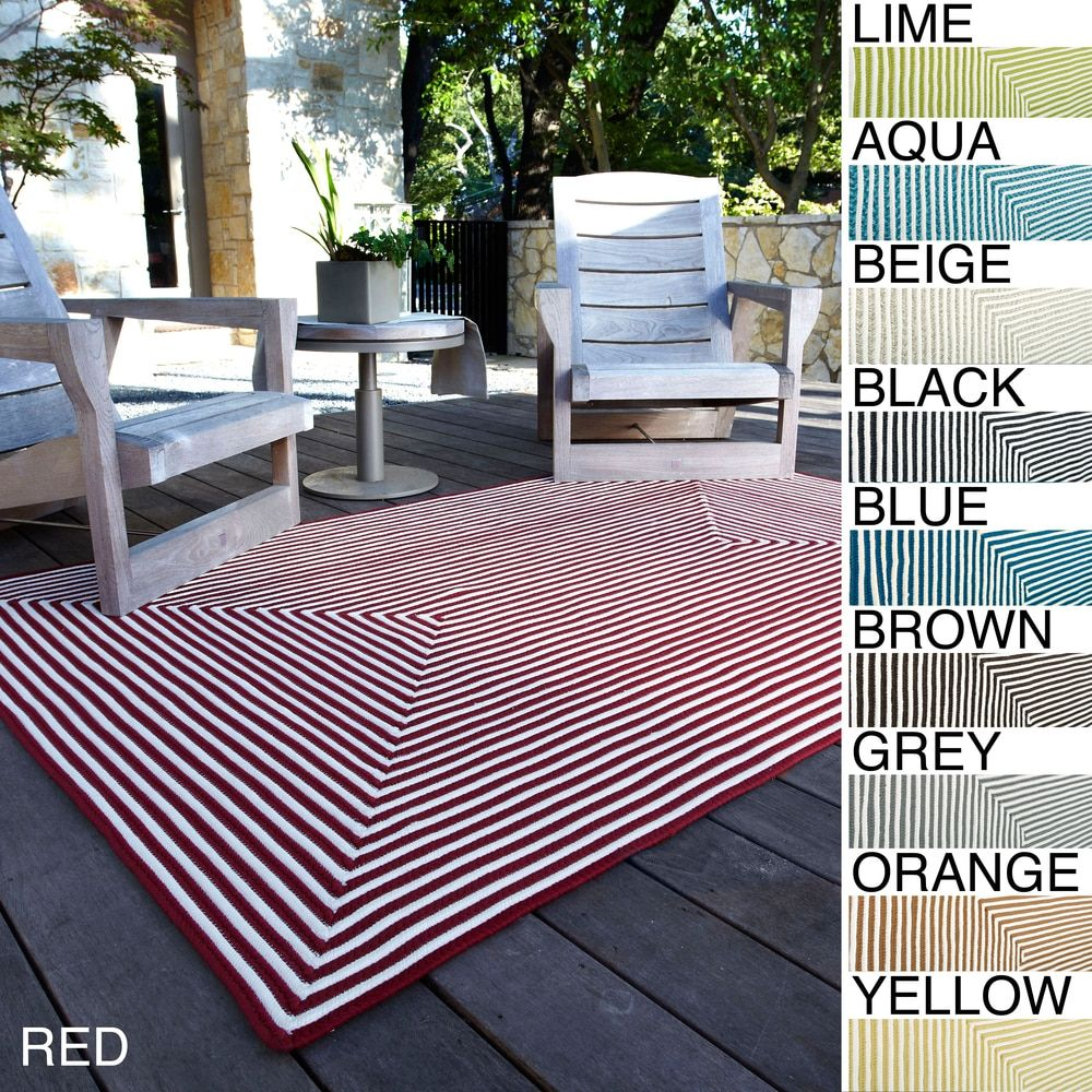 Hand-braided Cromwell Indoor/Outdoor Rug (5' x 7'6) - 14778404 - Overstock - Great Deals on Alexander Home 5x8 - 6x9 Rugs - Mobile