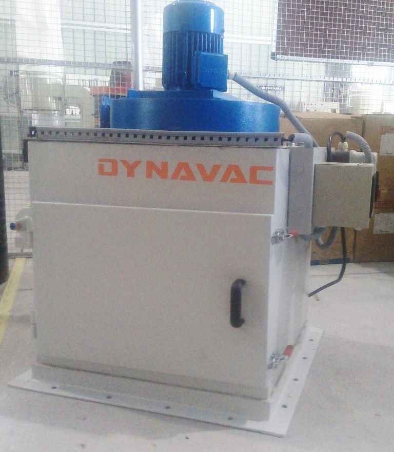 Compact Mounted Dust Collector for Silo Exhaust. Dynavac