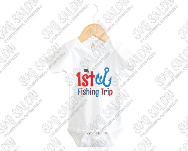 My First Fishing Trip Custom DIY Iron On Vinyl Babys Shirt Or - Custom vinyl decals machine for shirts