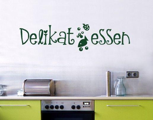 Wandtattoo Sprüche - Wandworte NoUL349 Delikatessen #Küche #kitchen