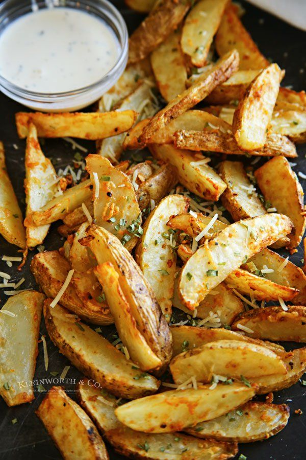 Air Fryer Steak Fries are loaded with garlic & parmesan