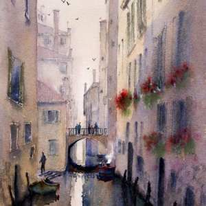 Photo of Watercolor Paintings Venice Gallery.Venice Italy watercolour