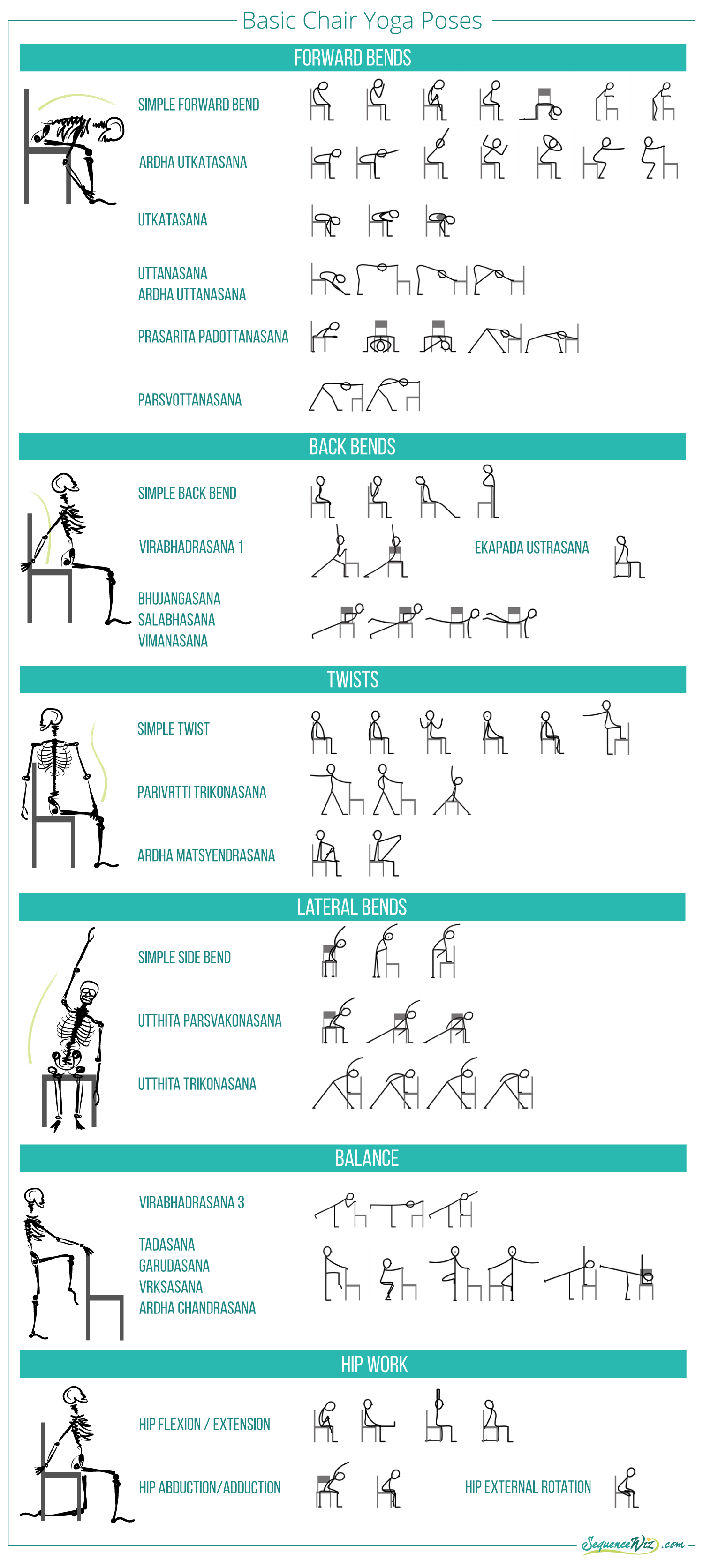 Chair yoga elderly - Basic Chair Yoga Poses More