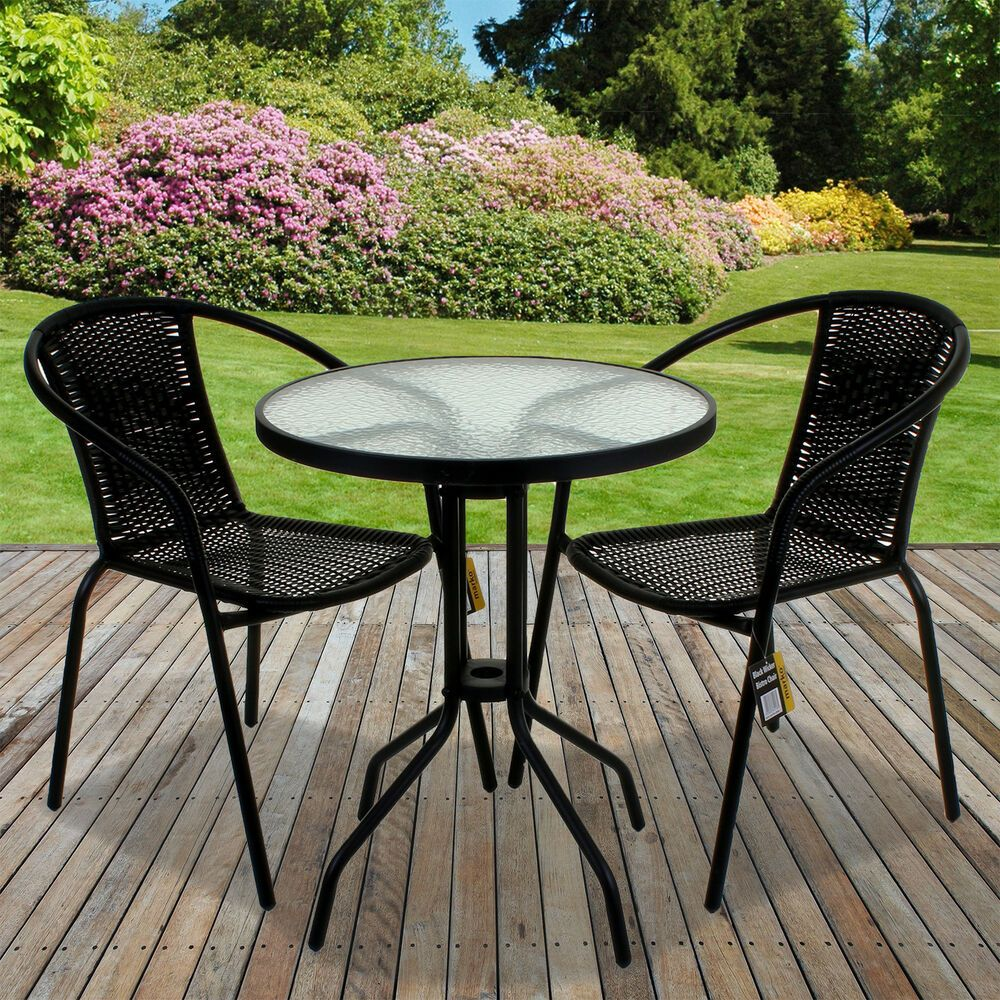 black wicker bistro sets table chair