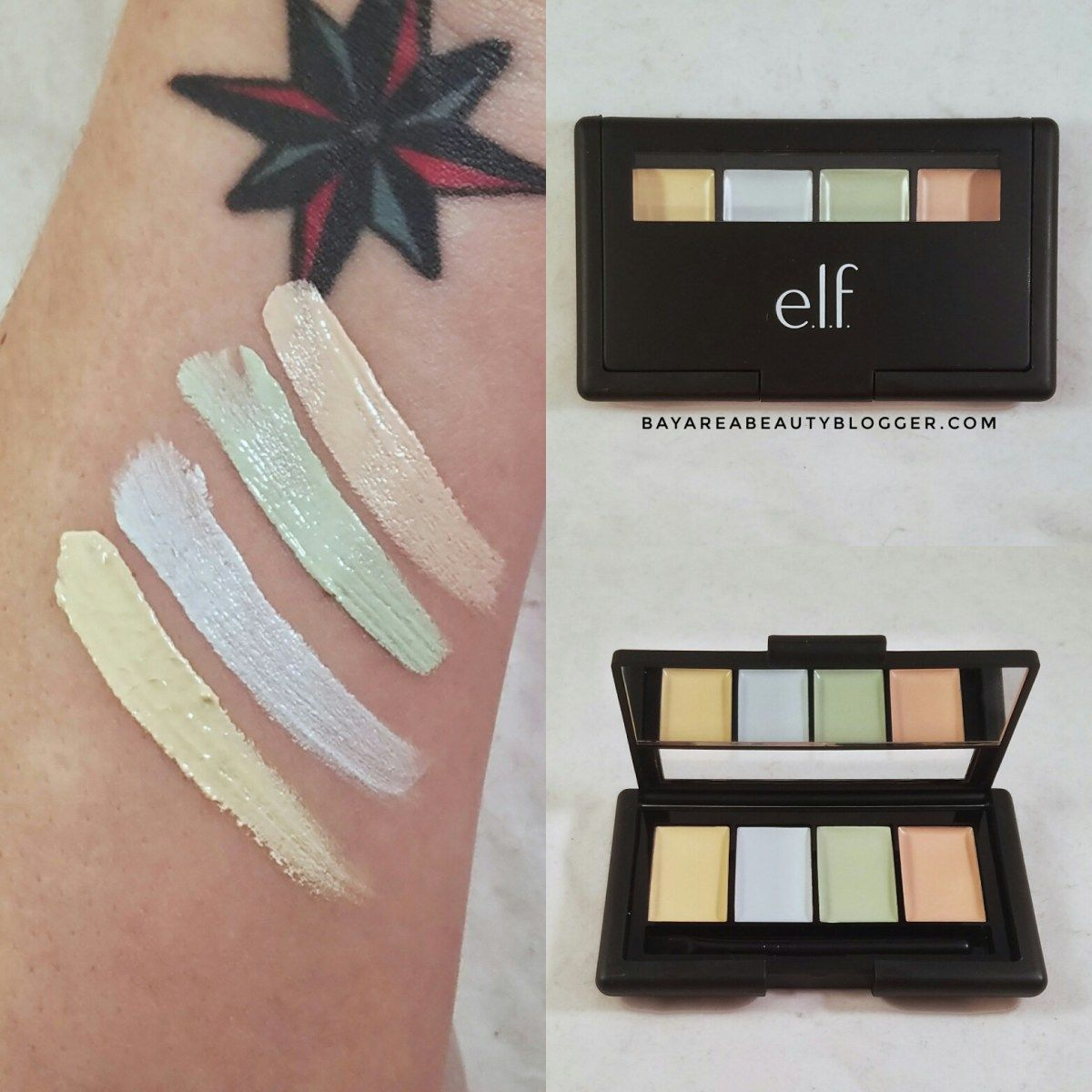e.l.f. Corrective Concealer Palette Review and Swatches
