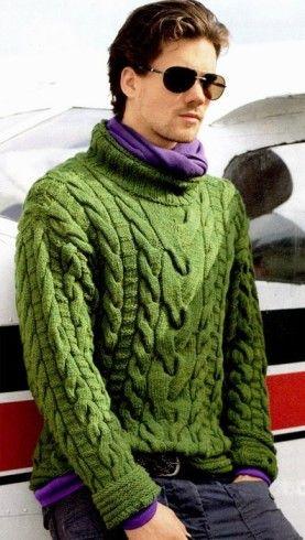 férfi pulóver kötés   Kötni jó!   Pinterest   Para hombres, Moda ...