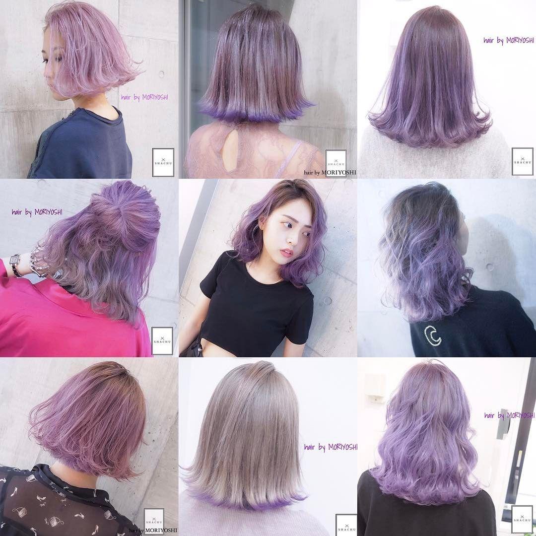 Moriyoshi モリヨシ Hairstyle Hair Color パープルヘアー ヘア