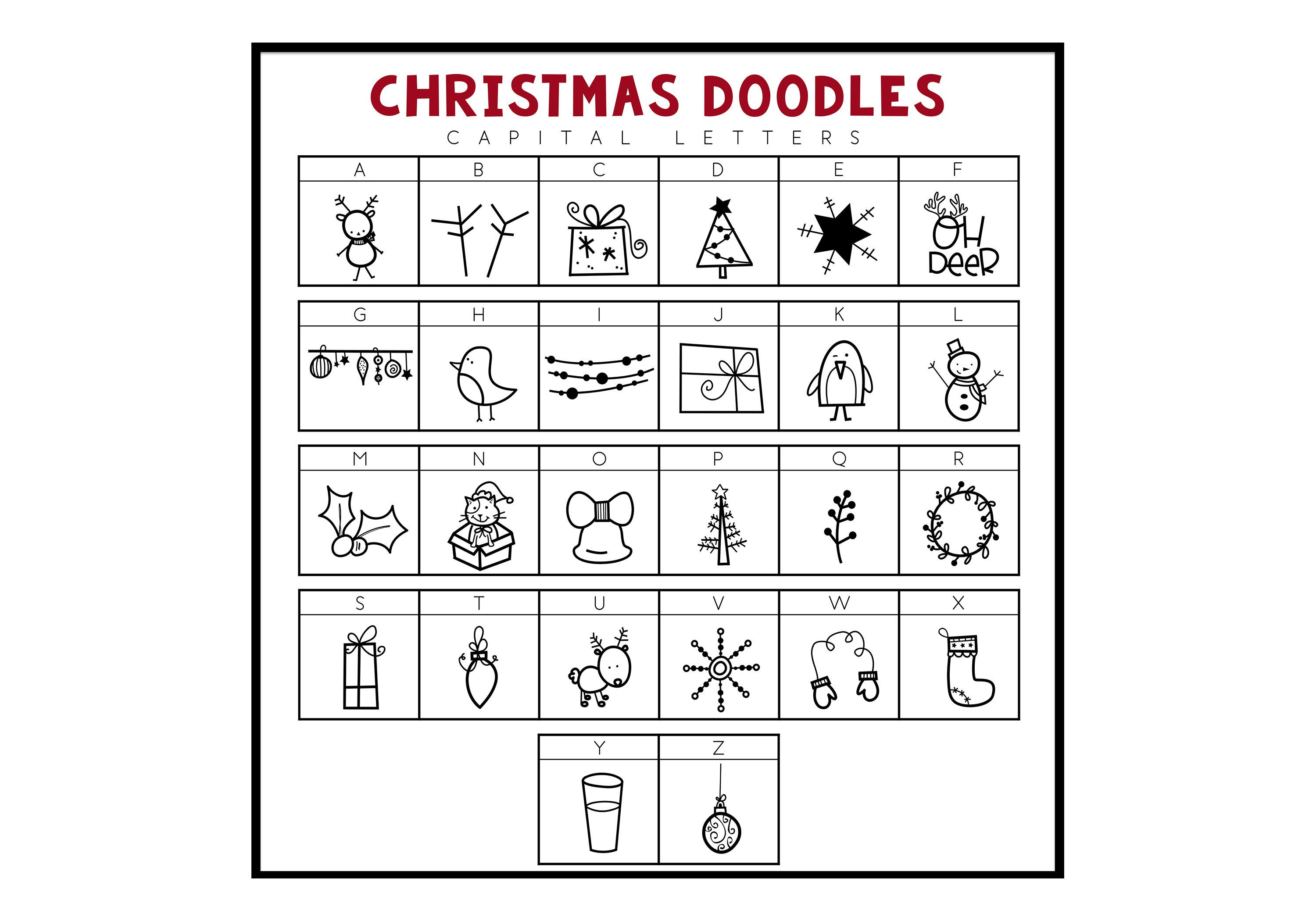 North Pole A Hand Drawn Doodle Font Christmas Winter Ttf