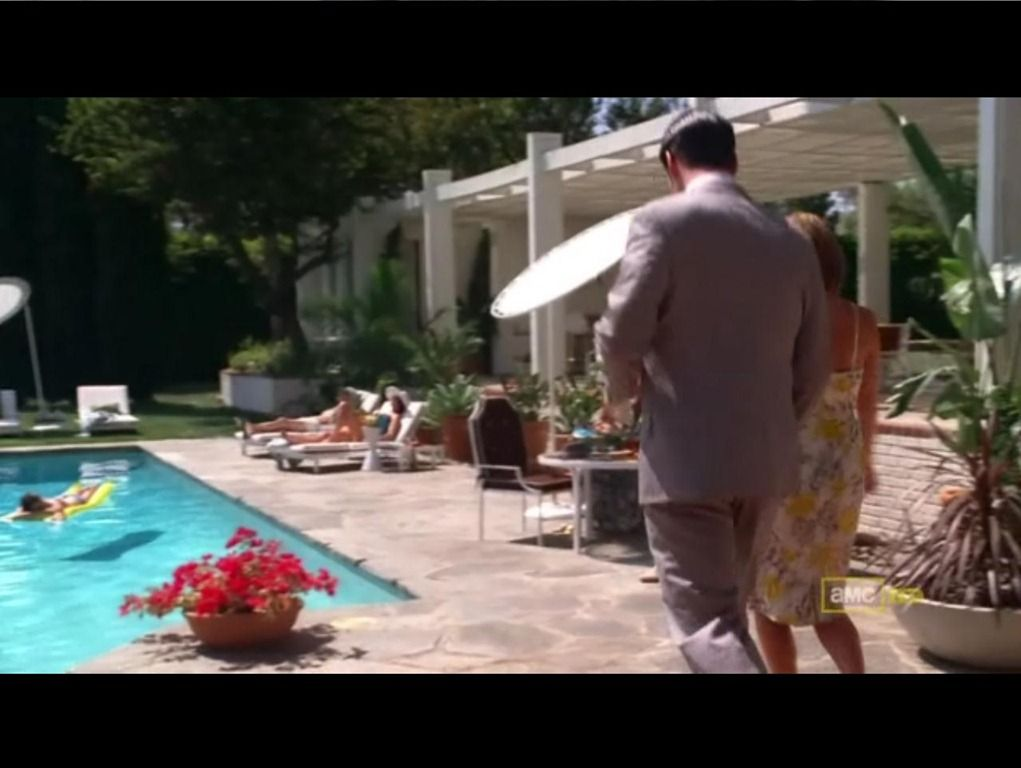 "Mad Men, Season 2, Episode 11, ""The Jet Set"". Filmed at 9361 Farralone Ave. in Chatsworth, CA."