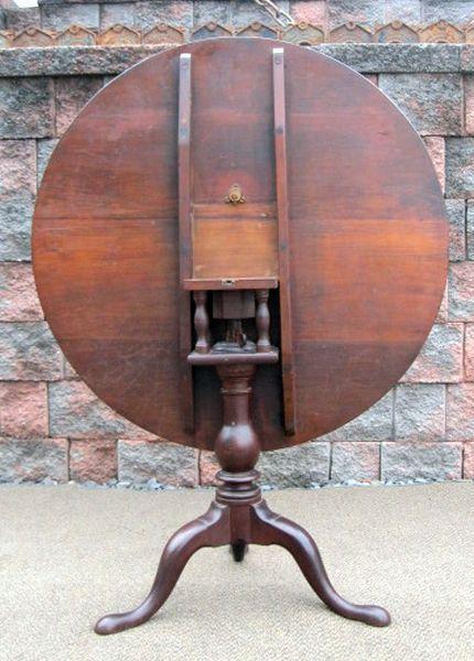 Antique Pennsylvania Lancaster County Primitive Birdcage Tilt Top Dining Table Tilt Table Table Piano Stool