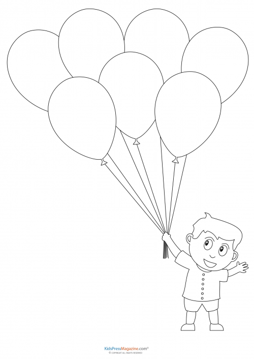 Preschool Coloring Pages Boy With Balloons Kidspressmagazine Com Preschool Coloring Pages Coloring Pages School Coloring Pages