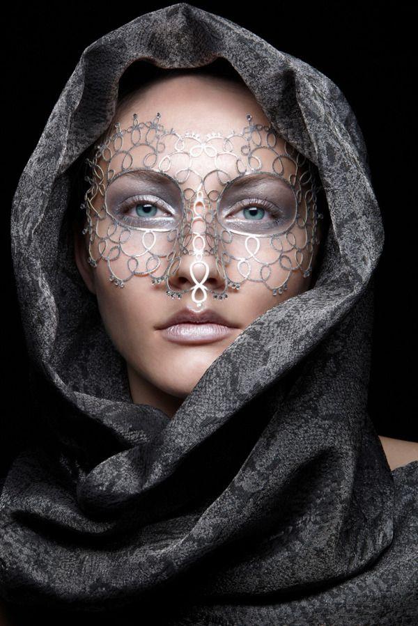 Veiled Mask Blue Eyed Beauty Edwin Kaufmann S Hair Makeup Artist From Frankfurt Germany Beautiful Mask