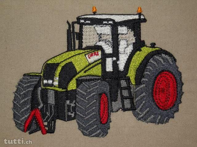 Stickdatei Traktor Claas Stickmotive | Sticken ...