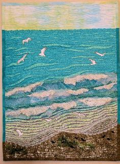 ocean quilt Would love something like this without seagulls ... : ocean themed quilt patterns - Adamdwight.com