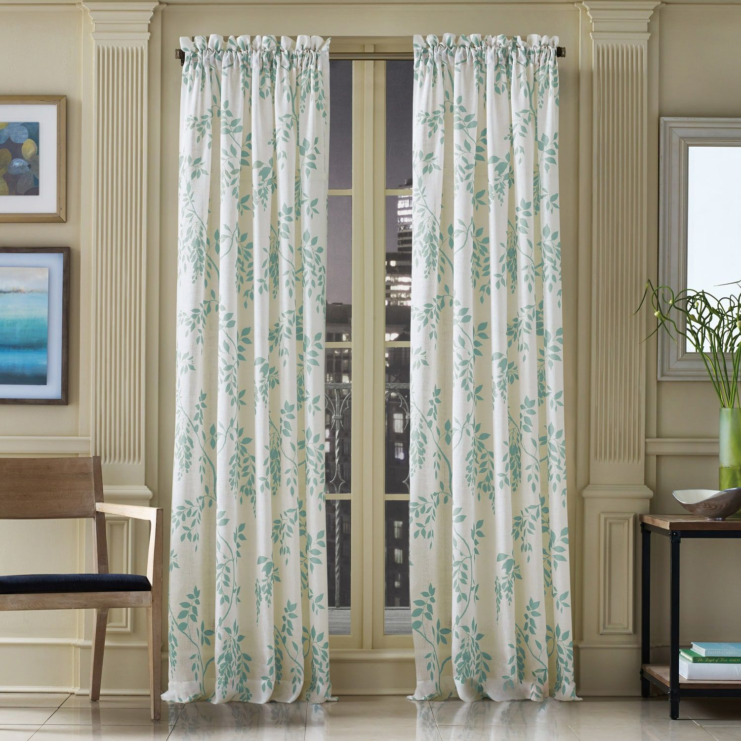 Wildwood Blue 95 Curtain Panel Curtains Curtain Patterns Curtains