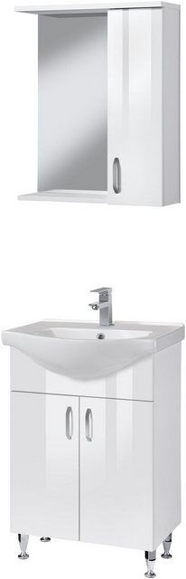 BadmöbelSet »Duru«, Premium Waschtisch und Spiegelschrank