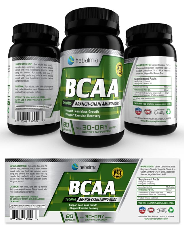 Bcaa Amino Acids Supplement Label Template Http://Www.Dlayouts.Com