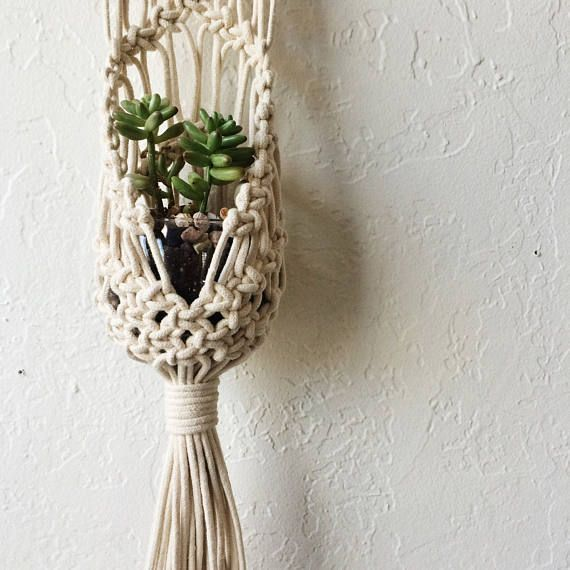 Macrame Hanging Plant Pouch Tutorial Download For Beginners