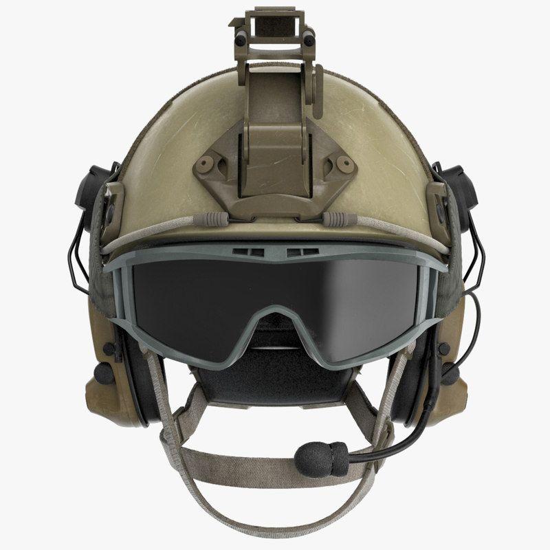 3d model ballistic combat helmet | Military Gear | Combat helmet