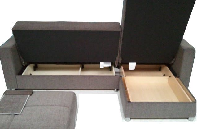 Malaga Luxury Corner Sofa Bed Sofabed L Shaped With Storage