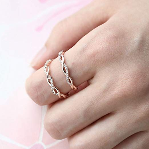 d66a9c9f0 Barogirl Twist Ring Engagement Ring for Women Women's Rings for Lovers.