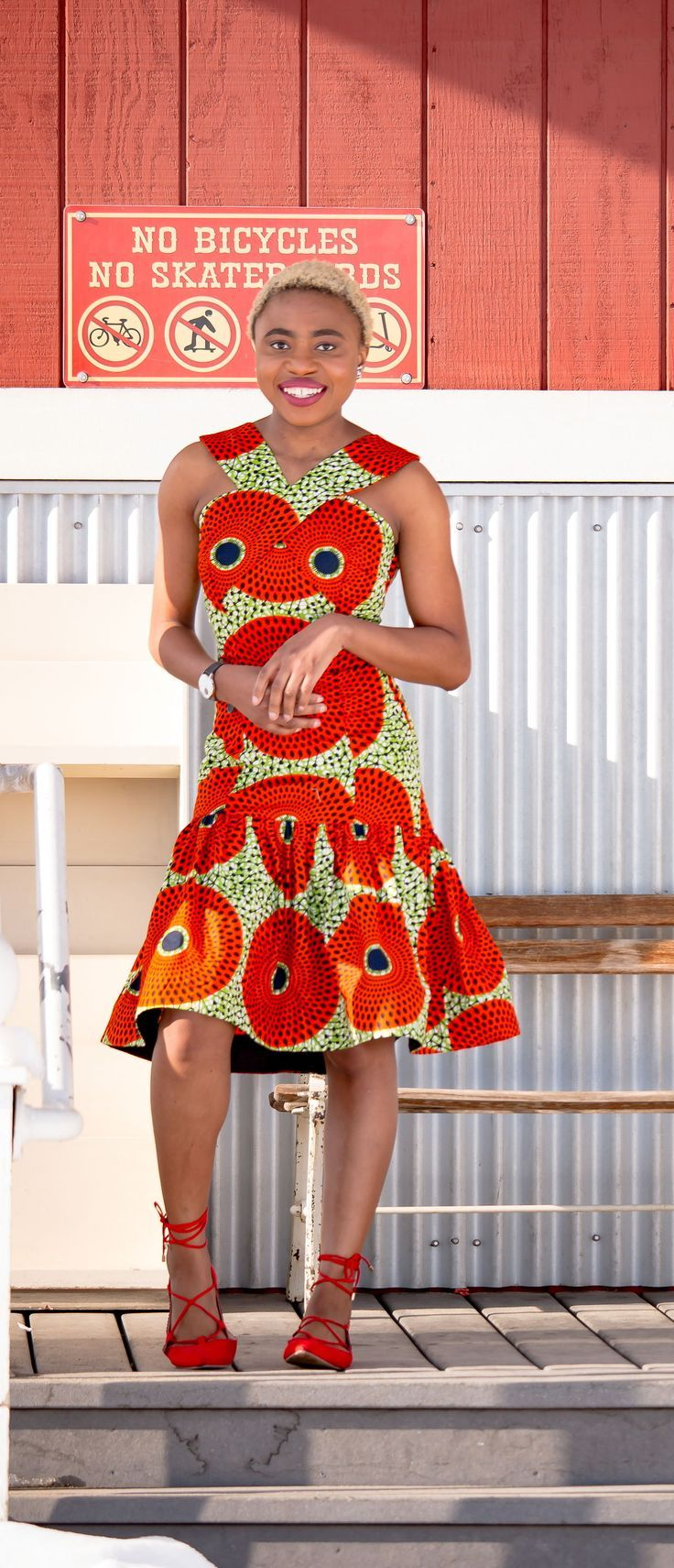 Chic African Print Summer Dress | 30 Days of African Outfits