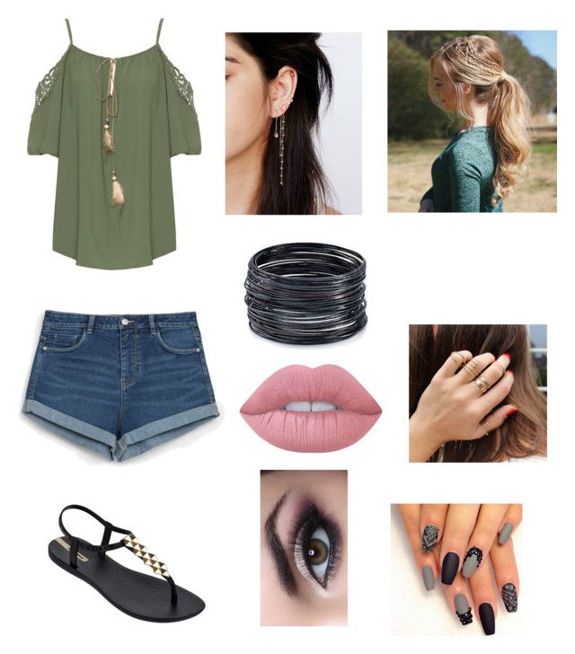 """""""Untitled #81"""" by kat-kitty18 on Polyvore featuring WearAll, Zara, IPANEMA, Lime Crime, Free People and ABS by Allen Schwartz"""