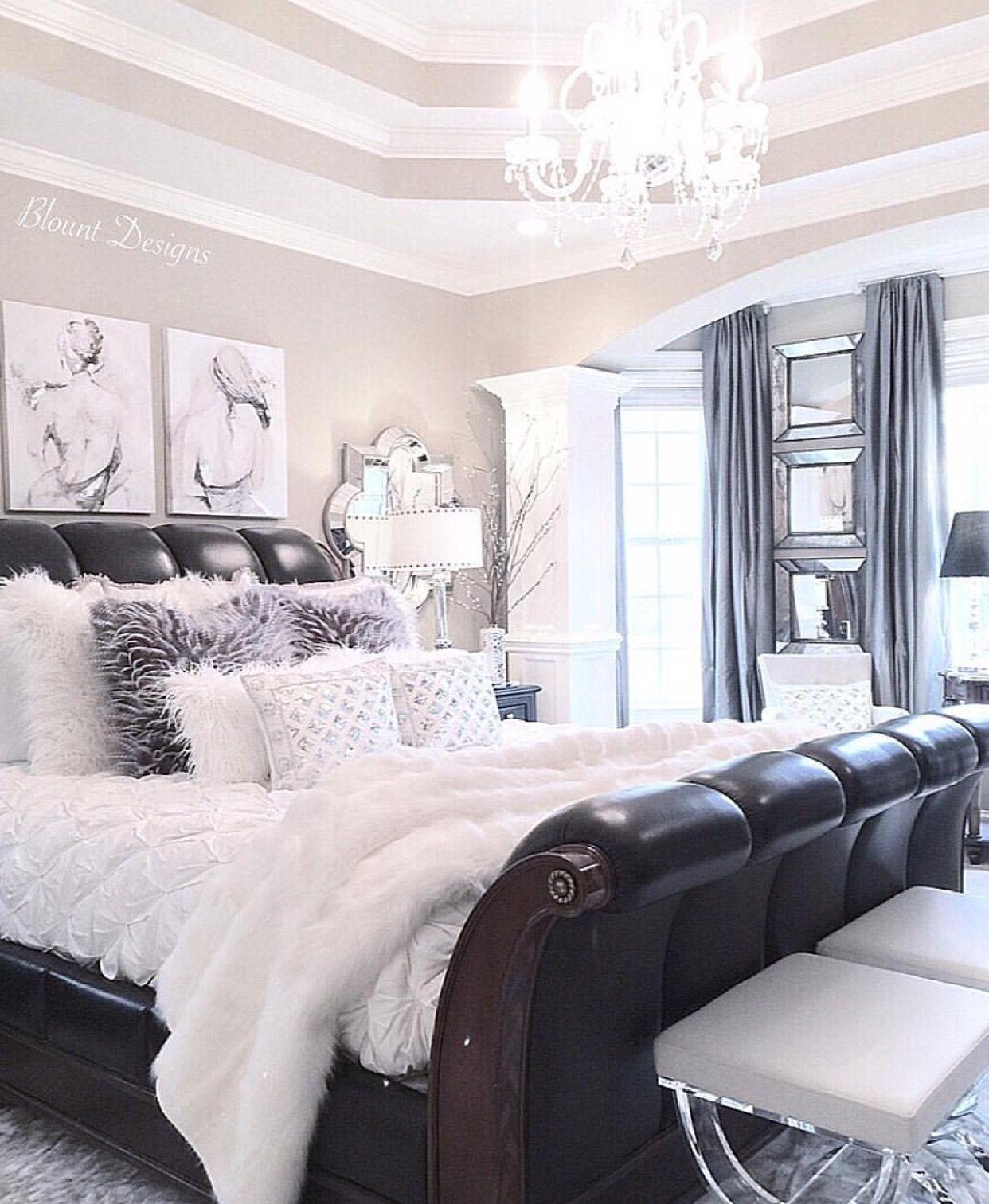 Pretty way of incorporating darker tones in master roomvanity